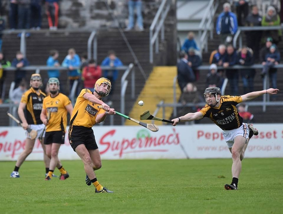 Tony Kelly attempts to get a hook in on Colm Galvin. Pic: Martin Connolly