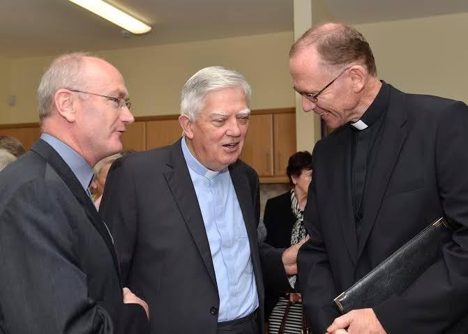 Fr Des Hillery, Bishop Emeritus Willie Walsh & Bishop Fintan Monahan