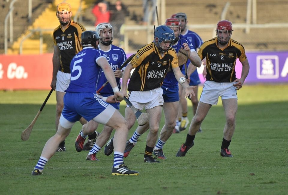 Stan Lineen in possession. Pic: Martin Connolly
