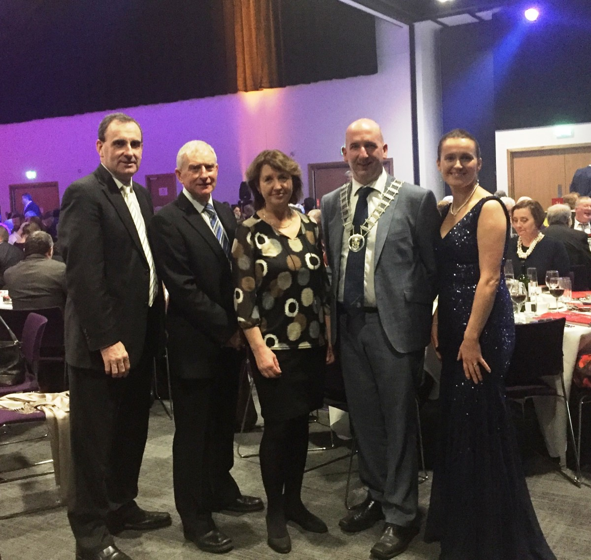Gerard Dollard, Deputy Chief Executive, Clare County Council; Ger Hoey and Laura Ward, Clare Bus, Cllr. Paul Murphy, Leas Cathaoirleach, Clare County Council and Philomena O'Connell, Pride of Place Coordinator, Clare County Council.
