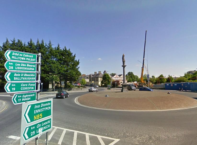 Maid of Erin Roundabout, Ennis