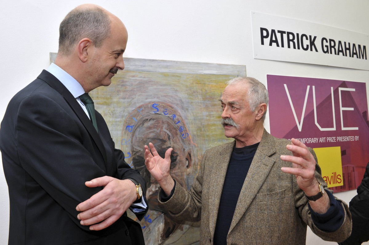 Pictured Patrick Graham and Roland O'Connell, Savills at the announcement of the Savills Art Prize. Pic: Conor McCabe