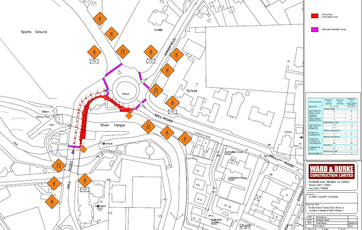 Traffic Management Plan : Traffic management plans in place all over ennis the