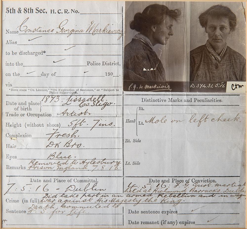 constance-markievicz-prison-form