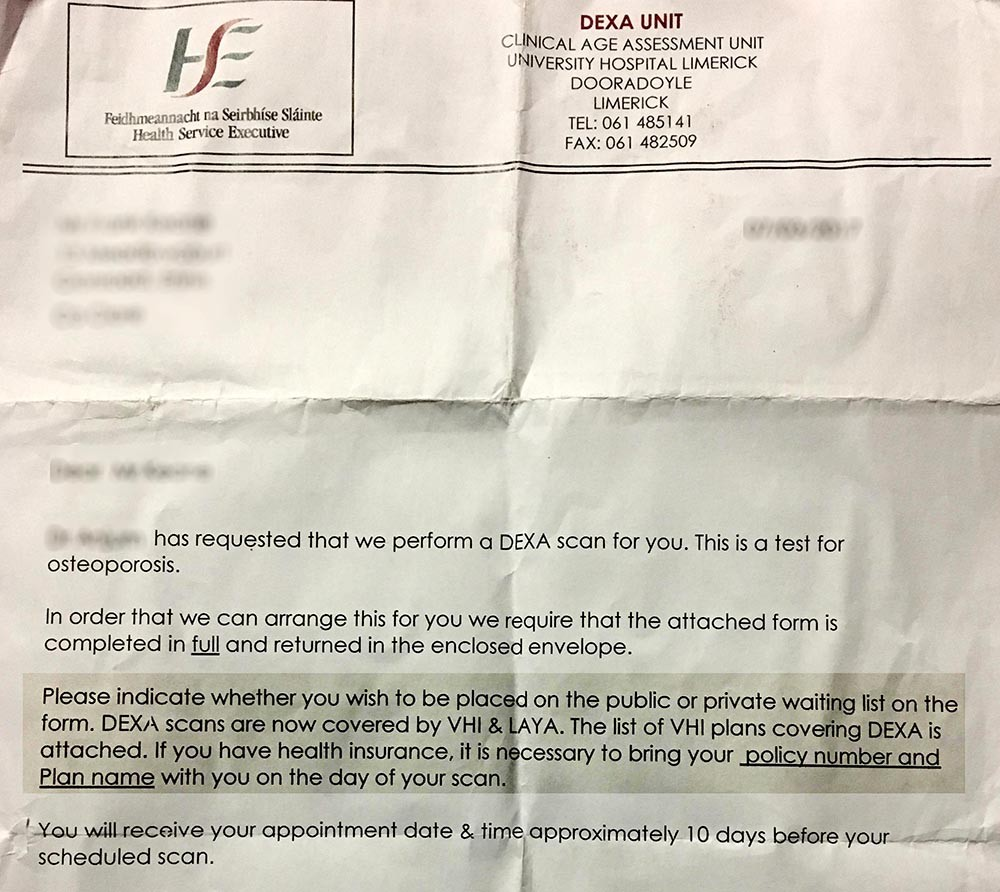 Hospitals Group 'recognises' error in patient letter | The